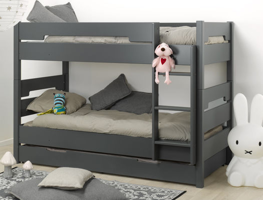 le lit enfant superpos avec son tiroir de lit un gain de place assur. Black Bedroom Furniture Sets. Home Design Ideas